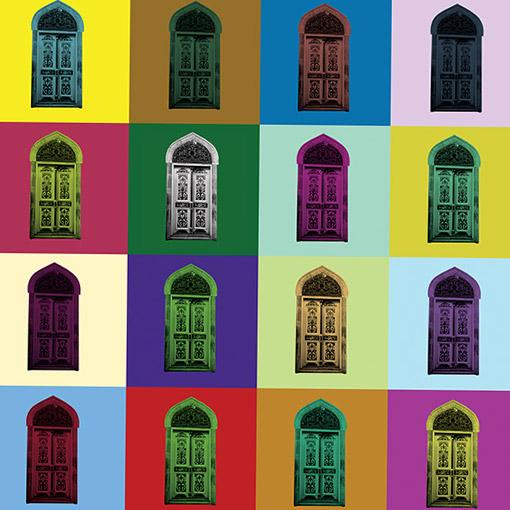 Pop Art Colored Windows